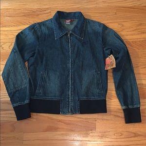 Roxy Jean Quiksilver Women's Large Denim Jacket